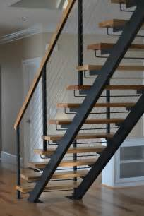 Straight Stairs by Metal Floating Stairs Amp Straight Stair Photo Gallery