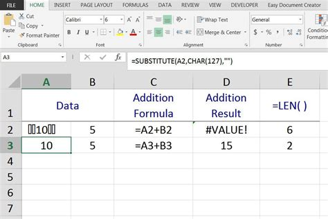 ascii chart xls remove ascii character 127 in excel
