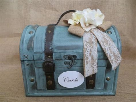 Wedding Box Holder by Rustic Aqua Wedding Trunk Wedding Card Holder Wedding