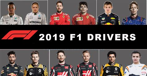 2019 F1 Drivers by F1 Teams Drivers And Calendar For The 2019 Racing Season