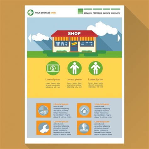 free vector website templates web template for shops vector free