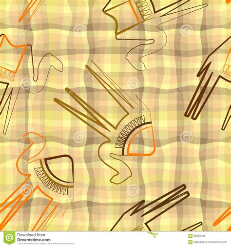 paper bag cap pattern seamless pattern with camels stock vector image 60536485