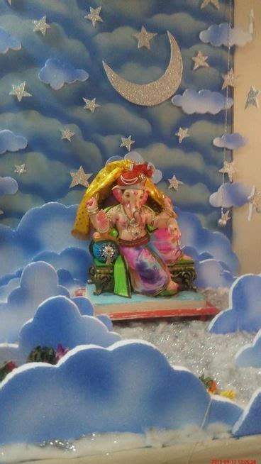 ganpati decoration at home ganpati decoration ideas at home 2017 images with