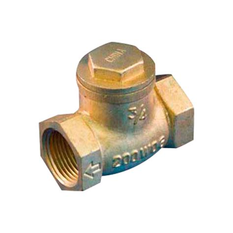 brass swing check valve 1 1 4 quot threaded brass swing check valve rona