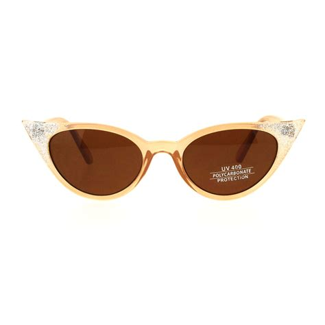 Retro Sunglasses womens retro vintage style glam narrow cat eye sunglasses