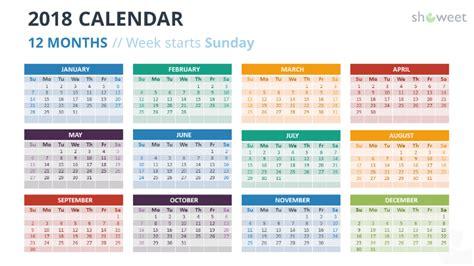Powerpoint Calendar Template 2018 Free 2018 calendar powerpoint templates