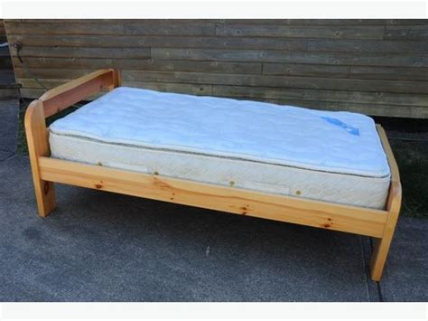Single Twin Bed Frame And Serta Mattress Outside Nanaimo Used Bed Frame For Sale