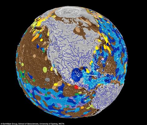 the topography of the floor is like what the earth would look like without oceans daily mail