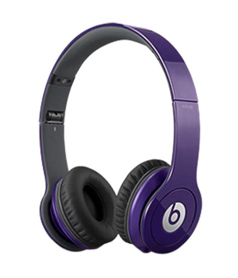 Headset Earphone Beats With Mic beats hd ear headphones purple with mic buy beats hd ear headphones