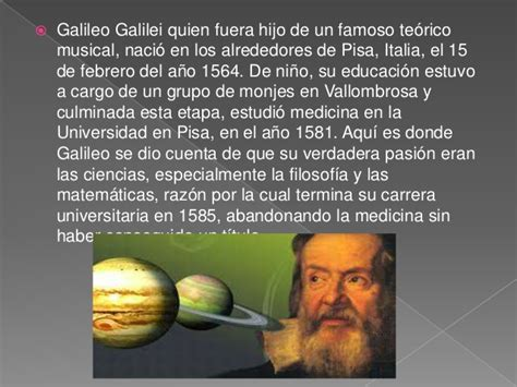 imagenes de la vida de galileo galilei galileo galilei diapositivas