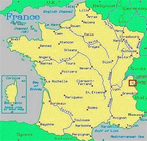 chamonix france france map chamonix