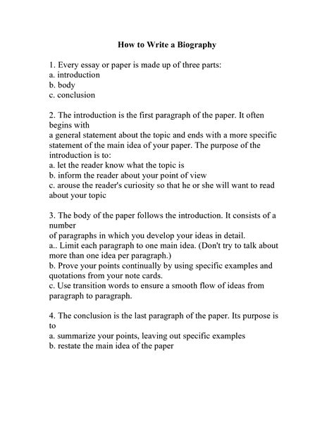 biography essay sle how to write a biography template 28 images sle