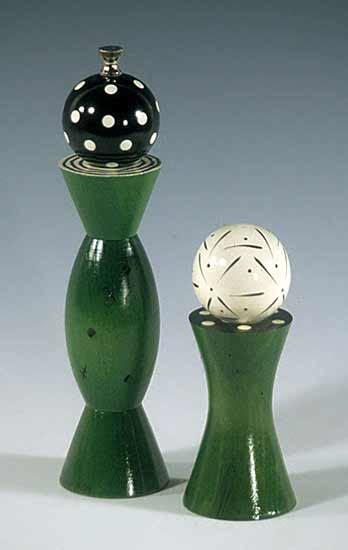 green grinder shaker  robert wilhelm wood pepper mill
