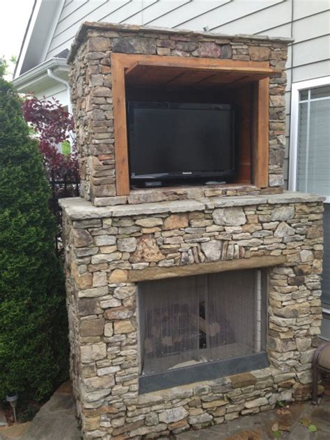outdoor fireplace with tv farms outdoor ideas