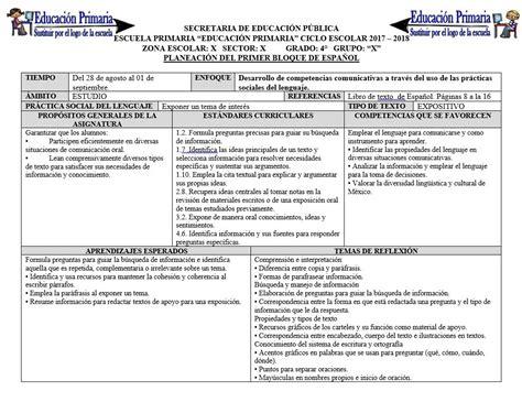 planeaciones cuarto grado bloque 1 primer bimestre ciclo escolar 2014 planeaciones del cuarto grado para el primer bloque del
