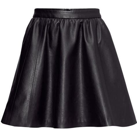 h m imitation leather skirt polyvore