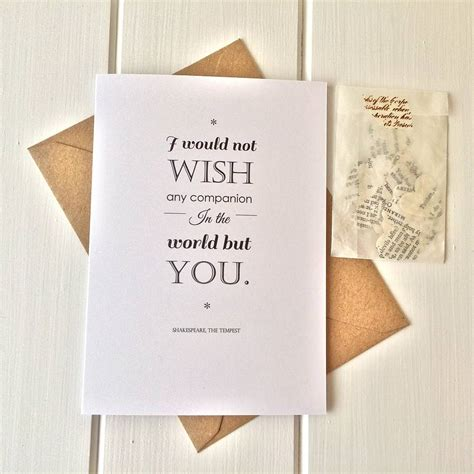 shakespeare valentines shakespeare valentines card with confetti by