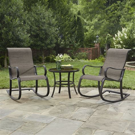 smith patio furniture smith marion 3 pc rocker bistro set outdoor living patio furniture small space sets