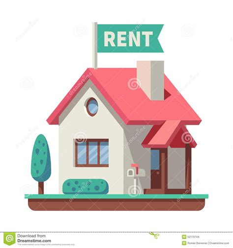 house for rent stock vector image of graphic element