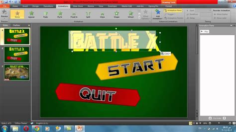 tutorial powerpoint games power point game tutorial 1 make a menu youtube