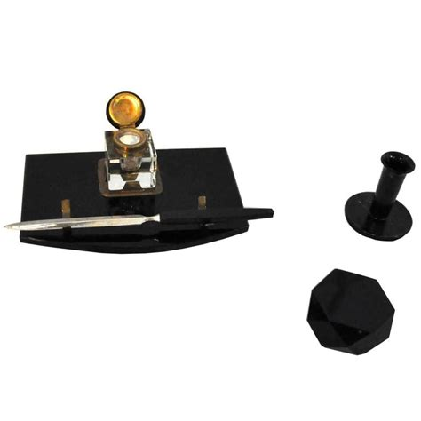 1920s Art Deco Desk Set Made Of Black Marble And Brass For Deco Desk Accessories