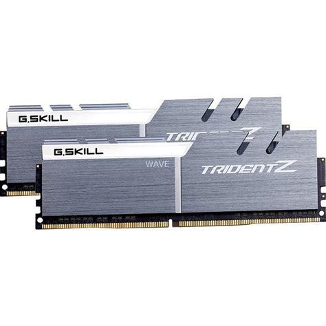 Gskill Trident Z Ddr4 16gb 2x8gb Pc25600 F4 3200c16d 16gtzb best deals on g skill trident z silver white ddr4 pc25600 3200mhz cl16 2x16gb f4 3200c16d
