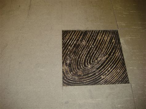 Asbestos Floor Tile & Black Mastic   Wear Damage   Example
