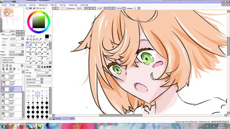 draw anime paint tool sai tutorial paint tool sai drawing by kimmiku on deviantart