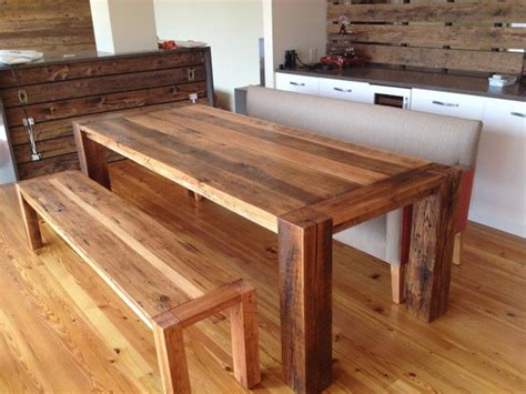 oak benches for dining tables 19 rustic reclaimed wood diy projects