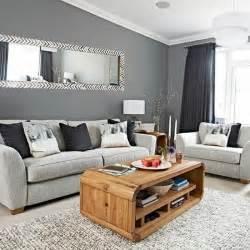 Supérieur Peinture Pour Table En Bois #1: deco-salon-moderne-couleur-peinture-salon-gris-fonc%C3%A9-canap%C3%A9-gris-clair-table-en-bois-desing-int%C3%A9ressant-e1476715072260.jpg