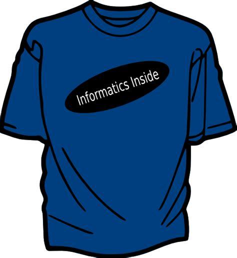 Tshirt H K t shirt template blue clip at clker vector clip