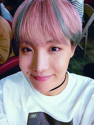 hobi  pink  blue hair armys amino