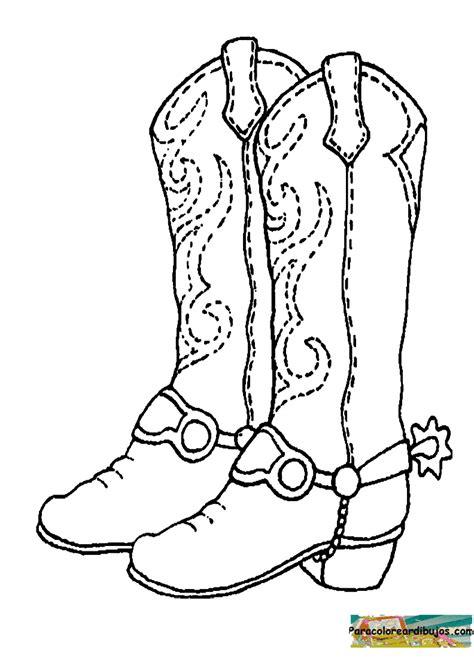 Imagenes De Botas Vaqueras Para Imprimir | botas vaqueras para colorear