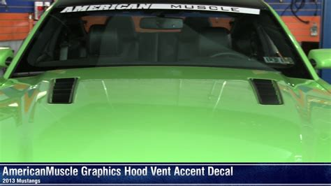 13 mustang black hood vents for vent hood mustang hood vent accent decal 13 14 all review youtube