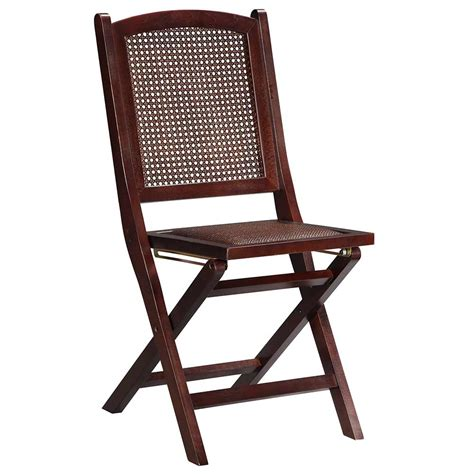 Folding Wood Chair by Linon Wood Folding Chair W Rattan Seat 04202weng 02