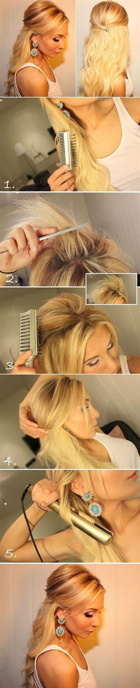 blonde hairstyles tutorial 25 best ideas about teased hairstyles on pinterest