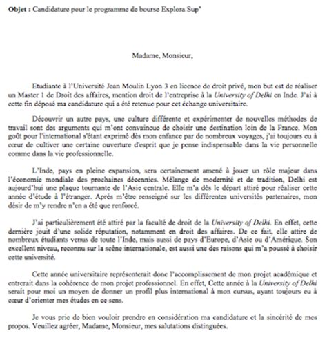 Lettre De Soutien Financier Visa Modele Lettre De Motivation Bourse Document