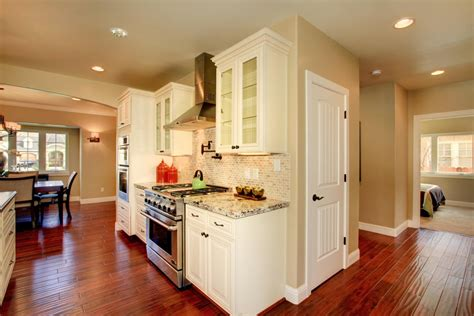 J And K Kitchen Cabinets by Contemporary Kitchen With White Glass Door J And K