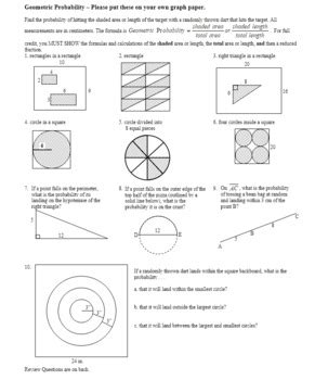 geometric probability worksheet 2012 with answer
