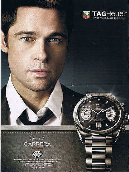 tag heuer ads brad pitt on tag heuer ad ads with celebrities for tag