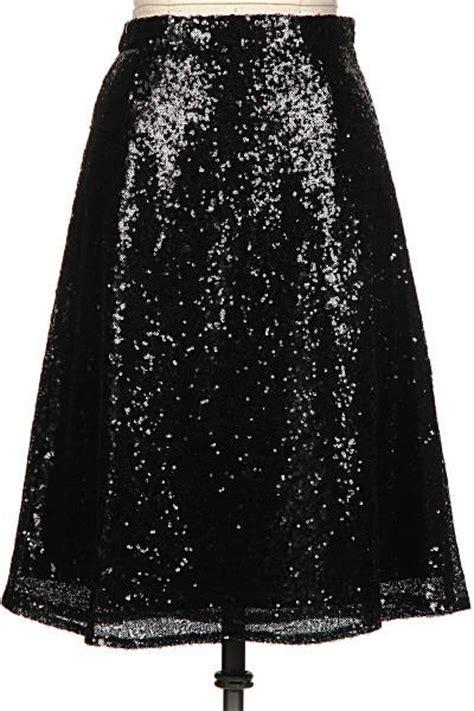 sequin midi skirt black from fvdefge