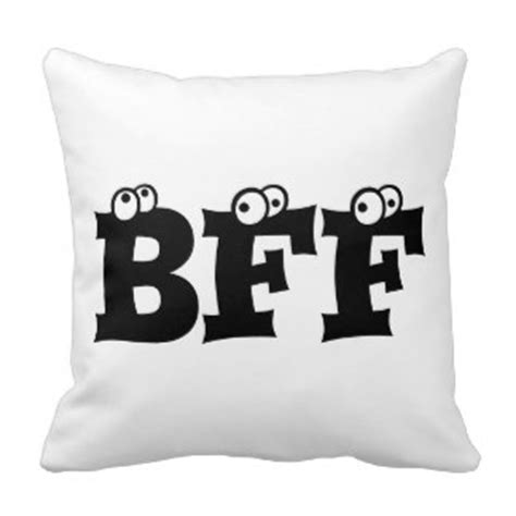 Pillow Is Best Friend by Bff Best Friends Forever Pillows Decorative Throw