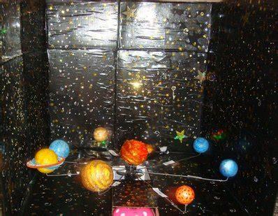 como hacer un planetario en una caja de zapatos sistema solar en 3d con movimiento cualita