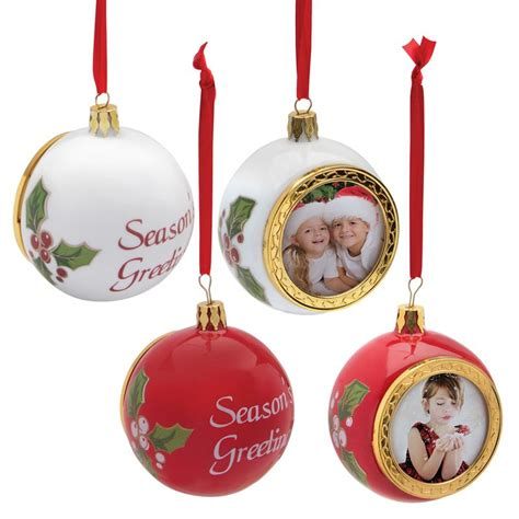 porcelain christmas holiday photo ornament christmas tree