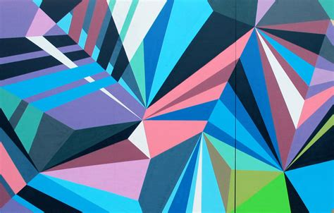 geometric pattern mural mwm graphics matt w moore