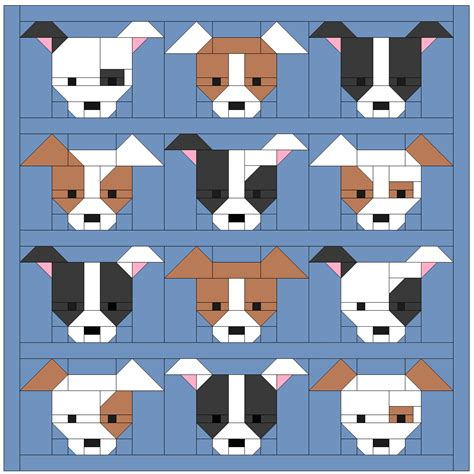 Puppy Quilt Pattern by Sew Fresh Quilts