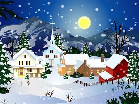 digital art christmas snow city picture nr 38357