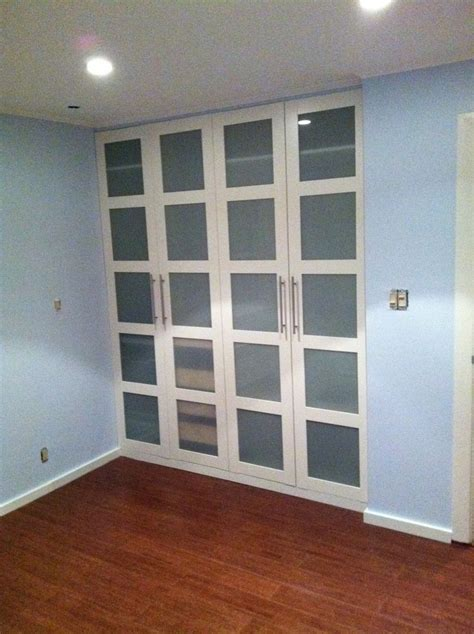 replace bedroom door ikea hackers pax wardrobe turned custom reach in closets