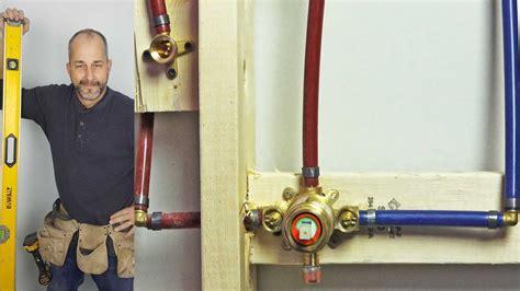 diy   install  shower valve  pex plumbing youtube
