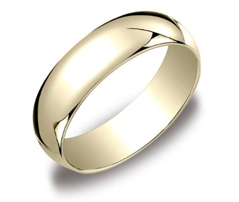 s 10k yellow gold 6mm traditional plain wedding band